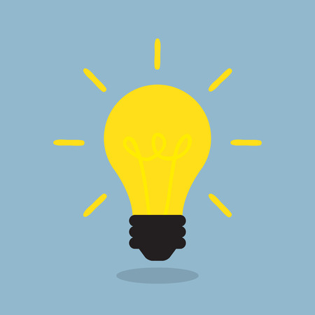 Ilustración de bright light bulb, creative idea concept. vector illustration - Imagen libre de derechos