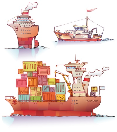 There are three type of a ships  the ocean liner, the tugboat and the bulker