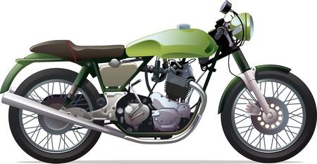 Illustration pour The classic retro motorcycle  - image libre de droit