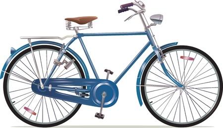 Illustration pour The old blue classic bicycle - image libre de droit