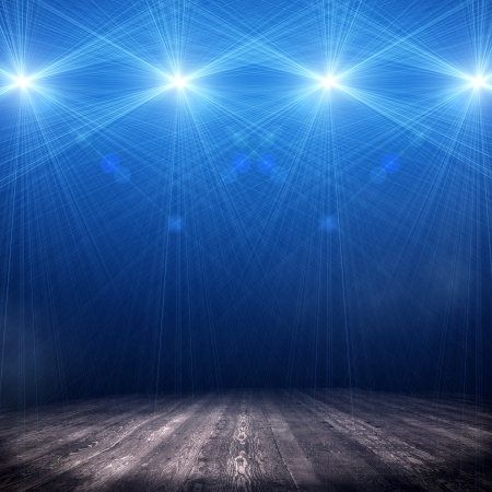 Photo for Background in show  Interior shined with a projector - Royalty Free Image