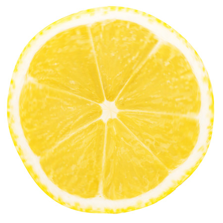 Ilustración de lemon slice isolated on a white background - Imagen libre de derechos