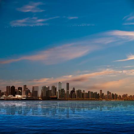 Ilustración de abstract nature background with blue sky and panorama of Vancouver - Imagen libre de derechos