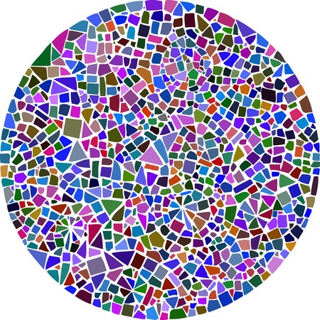 Illustration for Colorful mosaic background in a round shape - Royalty Free Image