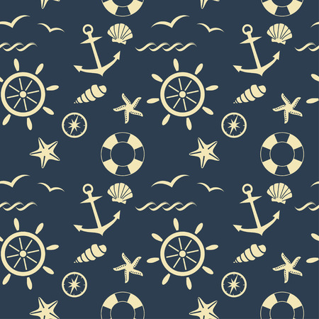 nautical seamless pattern vector background mural