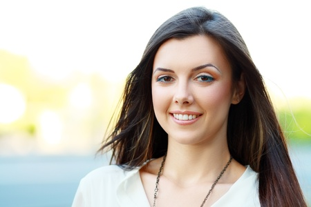Portrait Of Young Smiling Beautiful Woman