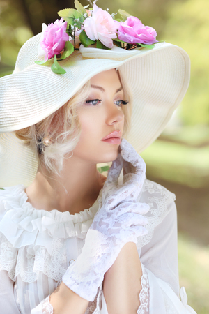 Photo for beautiful victorian age fashion woman portrait - Royalty Free Image