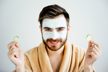 Photo for Man with a mud mask - Royalty Free Image
