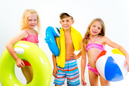 Photo for Kids on a beach - Royalty Free Image