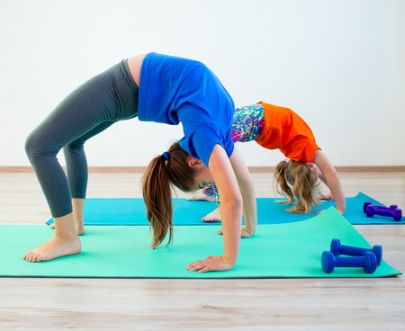 Photo for Kids doing exercises - Royalty Free Image