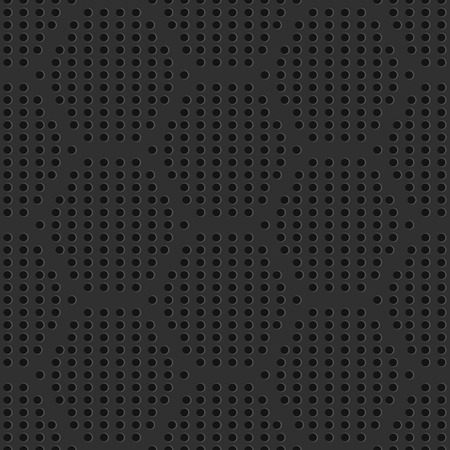 Illustration pour Seamless iron perforated grate pattern. Industrial seamless background. Vector Illustration. - image libre de droit