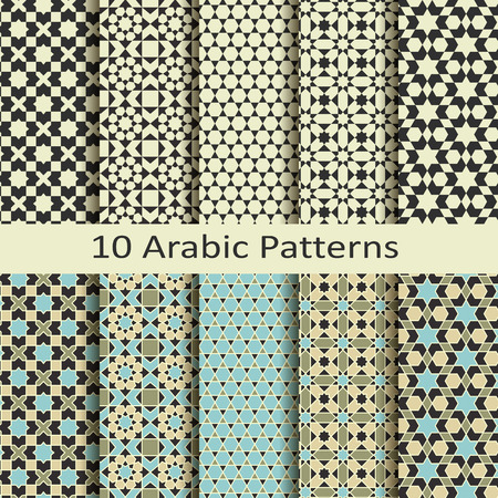 Photo pour Set of ten arabic patterns - image libre de droit