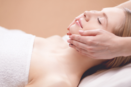 Photo for picture of beautiful woman beautiful woman in spa salon - Royalty Free Image