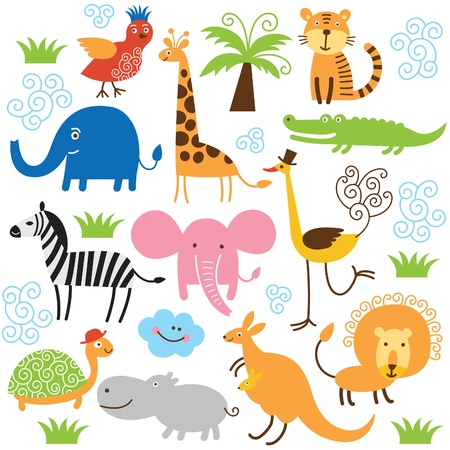 set of vector animals