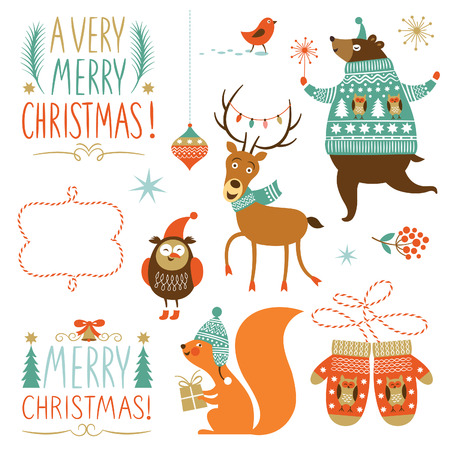 Photo for Set of Christmas graphic elements - Royalty Free Image