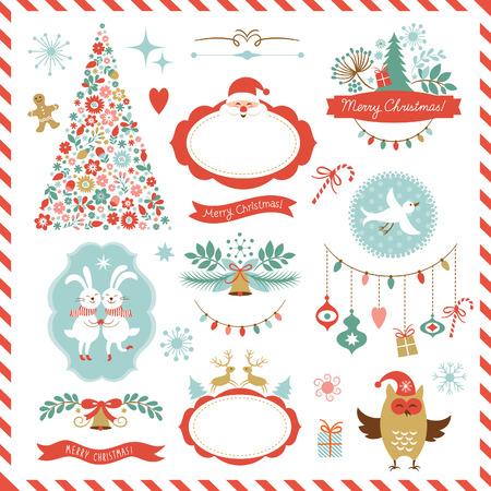 Illustration pour Set of Christmas graphic elements - image libre de droit