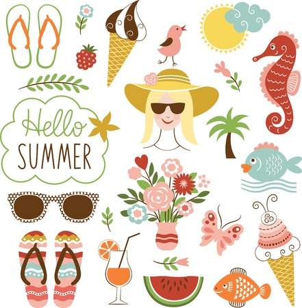 Illustration for summer icon set - Royalty Free Image