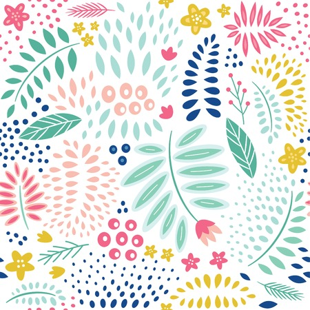 Illustration pour Abstract floral seamless pattern - image libre de droit