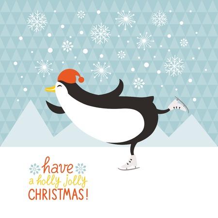 Ilustración de penguin skate - Imagen libre de derechos