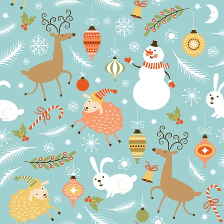 Illustration for seamless Christmas and New Year\\ - Royalty Free Image