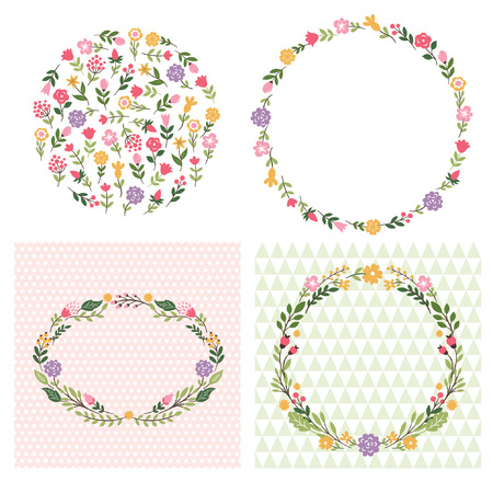 Illustration pour floral frames, place for text - image libre de droit
