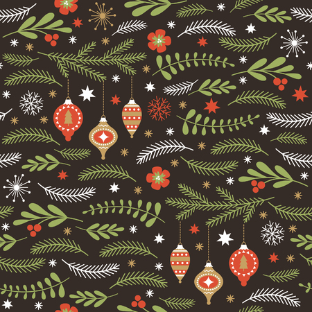 Illustration pour seamless winter pattern - image libre de droit