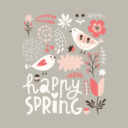Illustration for Happy Spring - Royalty Free Image