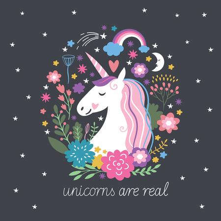 Illustration for Unicorn are real, fantasy illustration - Royalty Free Image