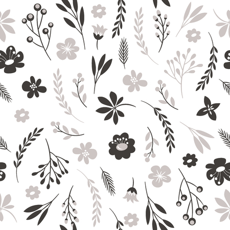 Illustration for seamless floral pattern - Royalty Free Image