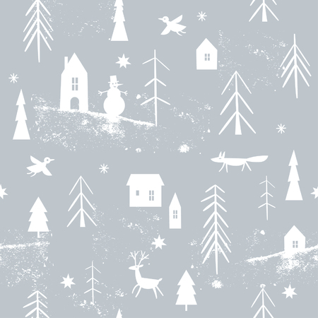 Illustration for christmas pattern - Royalty Free Image