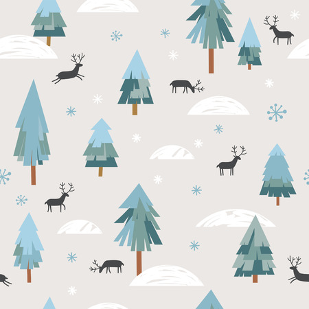 Illustration for Seamless xmas pattern - Royalty Free Image