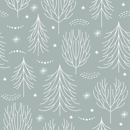 Illustration for seamless christmas pattern - Royalty Free Image