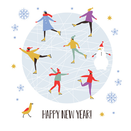 Illustration pour Merry Christmas or Happy New Year's card design - image libre de droit