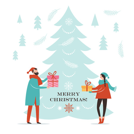Illustrazione per Christmas card, New Year Greeting card - Immagini Royalty Free