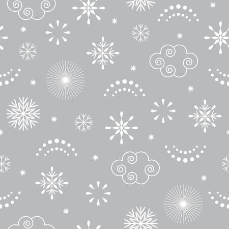 Illustration for seamless Christmas pattern , gray color - Royalty Free Image