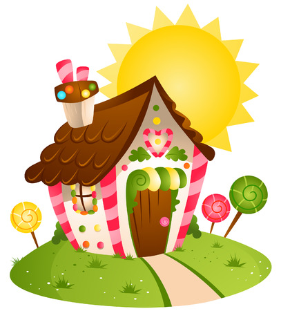 Candy House with Clipping Path
