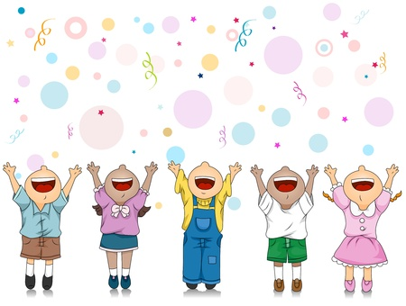 Illustration of Kids Celebrating a Special Occasion