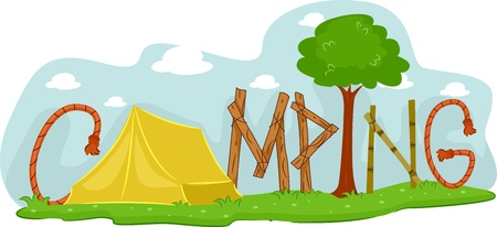 Illustration Featuring a Campsite