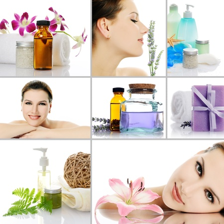 beauty spa collage