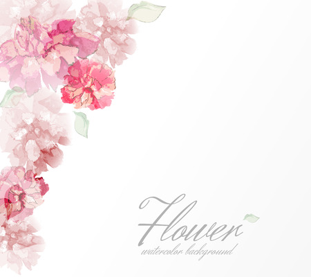 Photo for Watercolor flowers peonies with transparent elements. - Royalty Free Image