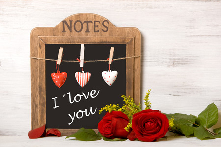 """Photo pour Blackboard with writing \ """"On February 14, Valentine - image libre de droit"""
