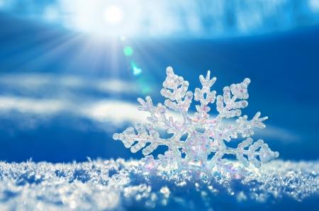 Foto de Snowflake light sunset - Imagen libre de derechos