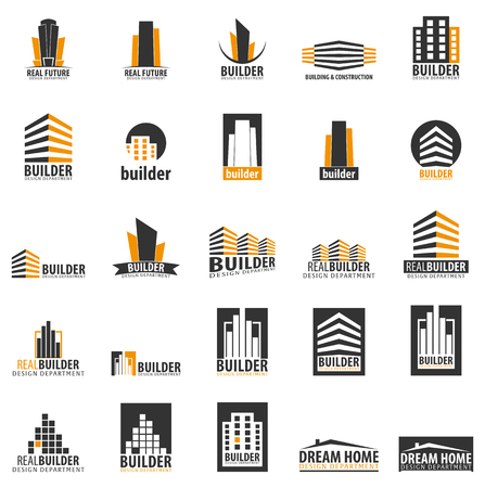 Illustration for Building logo. Design department. Modern Buildings Company icons - Royalty Free Image