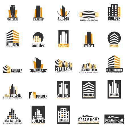 Illustration pour Building logo. Design department. Modern Buildings Company icons - image libre de droit