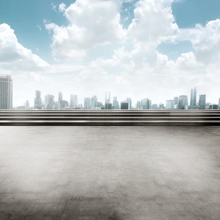 Photo pour Jakarta city background square. You can put your design here - image libre de droit