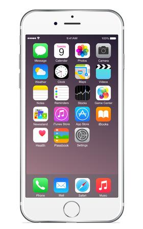 Photo pour Iphone 6 plus silver - image libre de droit