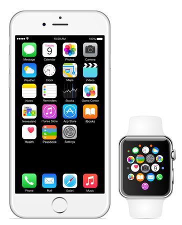Photo pour Iphone 6 Apple watch - image libre de droit