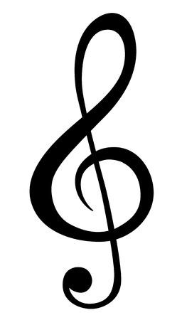Illustrazione per Music note symbols - Immagini Royalty Free