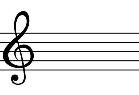 Illustrazione per Note paper for musical notes - Immagini Royalty Free