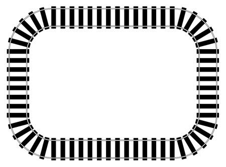 Illustration pour Railroad Track vector eps 10 - image libre de droit